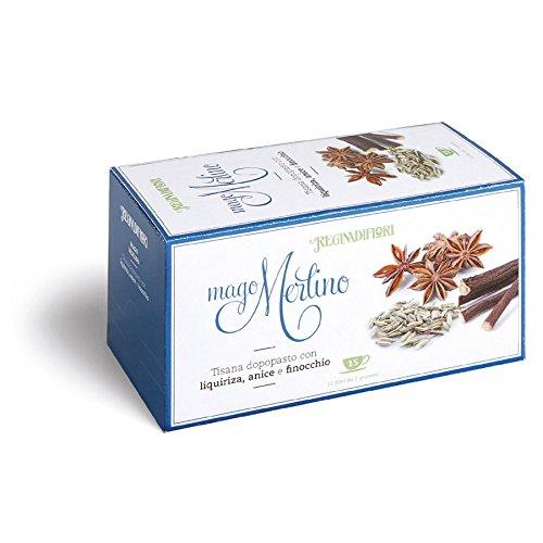 6 confezioni di Tisane Mago Merlino con Liquirizia, Anice e Finocchio - Tisane Regina di Fiori - Box da 6 dispenser da 15 filtri l'una (totale 90 filtri salva aroma)