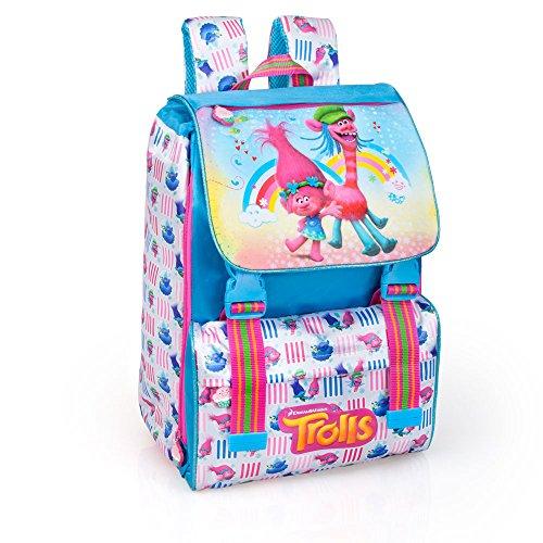 Trolls 41212 Zaino da Scuola, Estensibile, Poliestere, Multicolore, Principessa Poppy