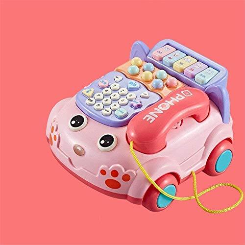 ? Woodblock Early Learning Activiteiten th Ben Toy Interactive Bus Music Activiteiten th brief speelgoed kind auto geluid en muziek Cubed educatief speelgoed (Kleur: Roze, Gr ?? e: Gratis Gr ?? e)?, G