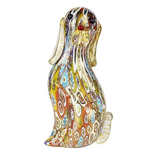 Figura de perro en Murrine Millelfiori Gold - Animales - Original cristal de Murano OMG