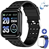 ANCwear Fitness Trackers Bluetooth Smart Watches with Heart Monitor and Blood Pressure, Waterproof
