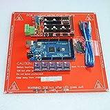 F-Mingnian-rsg Mega 2560 R3 para + 1 Uds RAMPS 1,4 Controlador + 5 uds DRV8825 módulo de Controlador Paso a Paso + 1 Uds PCB Heatbed MK2B 3D Kit de Impresora