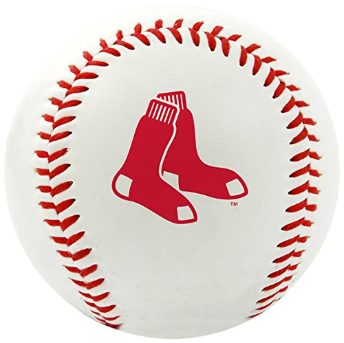 Rawlings MLB Boston Red Sox Team Logo Baseball, Official, White
