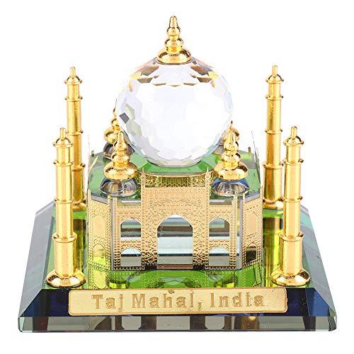Weltberühmte Gebäude Modell Muslim Kristall vergoldet Taj Mahal Miniatur Modell Moschee Indisches Gebäude Geschenk Desktop-Dekoration