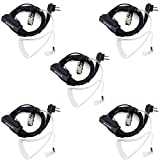 Retevis Walkie Talkie Earpiece with Mic 2 Pin Acoustic Tube Security Headset for Motorola CP200 CLS1413 GP2000 P1225 RDU4100 Two Way Radios (5 Pack)