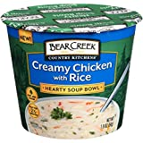 Bear Creek Hearty Soup Bowl, Creamy Chicken with Rice, 1.9 Ounce (Pack of 6)