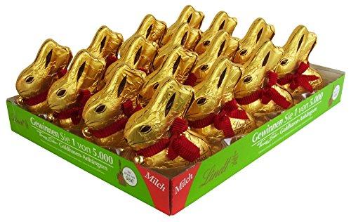 Lindt Conejo de Pascua Chocolate, 100g (pack de 16)