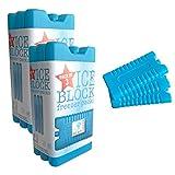 6 atóxicos acumuladores - en 3 colores Azul azul