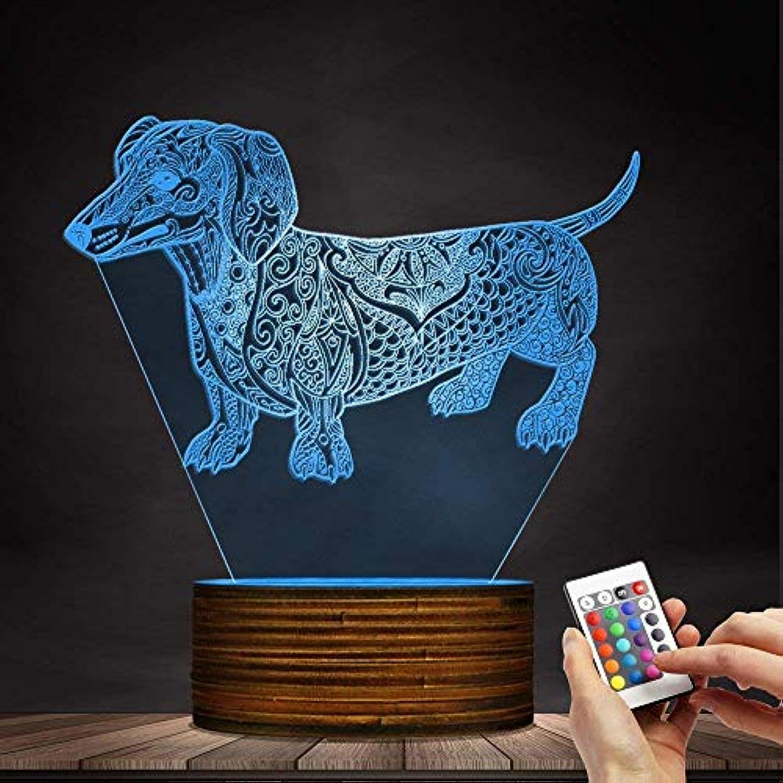 FERZA Home 3D Nachtlicht Terrier Benutzerdefinierte Name Kinderzimmer Tischlampe LED Lampe Pet Liebhaber Eigentümer Beleuchtung Geschenk
