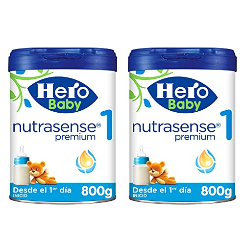 Hero Baby Leche Premium 1 -Para niños de hasta 6 meses - Pack de 2 x 800 gr