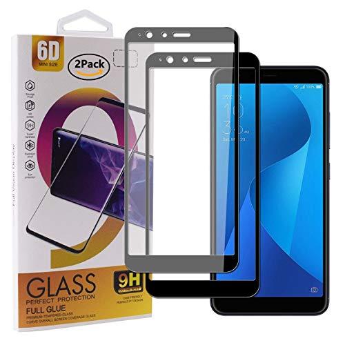 Guran [2 Pezzi Pellicola Vetro Temperato per ASUS Zenfone Max Plus (M1) ZB570TL Smartphone Copertura Completa 9H Durezza Anti-Impronte HD Pellicola Protettiva - Nero