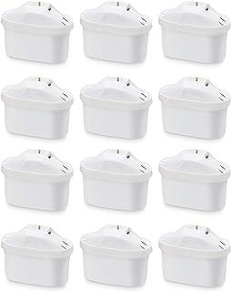 Amazon Basics - Boite de 12 Cartouches pour carafe filtrante - Fits BRITA Maxtra Jugs (not Maxtra+)