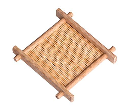 chytaii sotto di vetro/piatto/ciotola/tazza quadrato sous-bock Tappeto in bambù