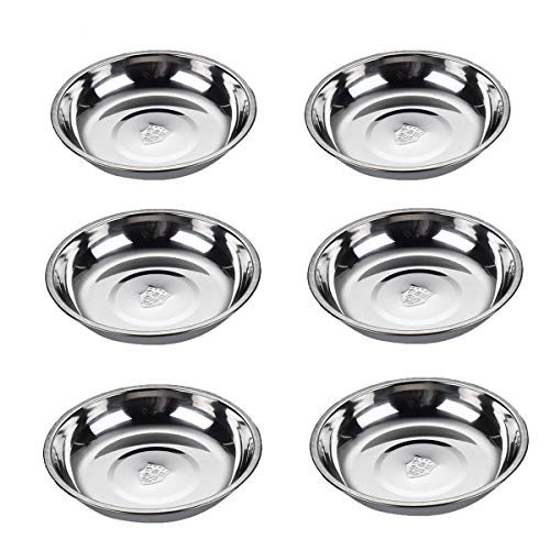 6pcs Stainless Steel Sauce Dishe...