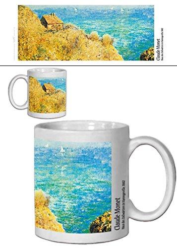 1art1 Claude Monet, Haus des Zollwärters In Varengeville, 1882 Foto-Tasse Kaffeetasse (9x8 cm) Inklusive 1x Überraschungs-Sticker