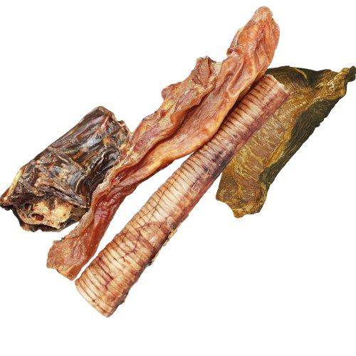 DOGREFORM Straußen Mix 250 g Dörrfleisch vom Strauss aus getrocknetem Straussenschlund, Straussenmagen und Straußenmuskelfleisch - der natürliche Zahnsteinentferner für Hunde