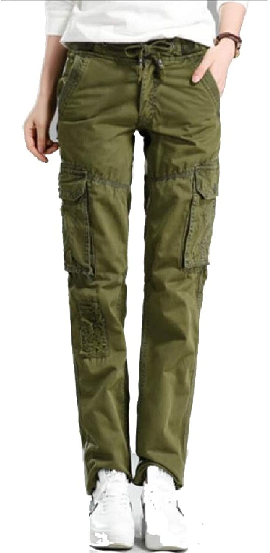XQS Women Ladies Combat Cargo Cotton Military Trousers Pant