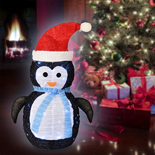 Ke yu Christmas Decorations Lights Indoor/Outdoor, Fabric Penguin Battery Operated Lights, Christmas Lights for Home, Garden, Party, Yard Decor