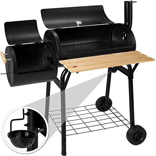 TecTake BBQ Charcoal barbecue smoker with heat indicator – different models – (Smoker model 1 (big 400821))