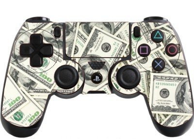 Money Playstation 4 (PS4) Controller Sticker / Skin / Wrap / PS13 from the grafix studio