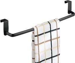 mDesign - Handdoekenstang - handdoekenrek - voor keuken- en badkamerkasten - voor handdoeken en theedoeken - staal/bevesti...