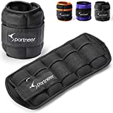 Sportneer Adjustable Ankle Weights 1 Pair 2 4 6 8 10 Lbs Leg Weight Straps for Women Men Kids, Weighted Ankle Weights Set for Gym,Fitness, Workout,Walking, Jogging,1-5 lbs Each Pack, 2 Pack 2-10 lbs