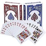 BETOY póker Naipes 2 Paquete Cartas de Poker Impermeables Cartas de póker de plástico Cartas...