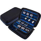 Wolven USB Flash Drive/Hard Drive/Game Consoles/Game Card EVA Waterproof Shockproof Hard Case Bag for Nintendo...