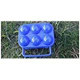 Pure Vie お弁当卵携帯ケース エッグキャリアホルダー 玉子の収納コンテナ たまごボックス トレイ 6枚 ブルー (2 パッ)