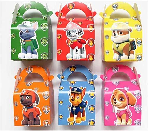 MIANRUII Paquete de 18 bolsas de regalo de Paw Dog Patrol para fiestas de cumpleaños infantiles.