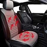 Big Ant Car Travel Seat Cover Cushion - 1 Pack Premium Quality Gray 12V 24V Comfortable Seat Cushion for Cars SUV Perfect for Cold Weather and Winter Driving
