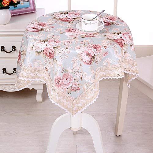 ChuangYing Nappe de Tissu Petite Place Table Ronde Dentelle Douce Table de thé Jardin Nappe
