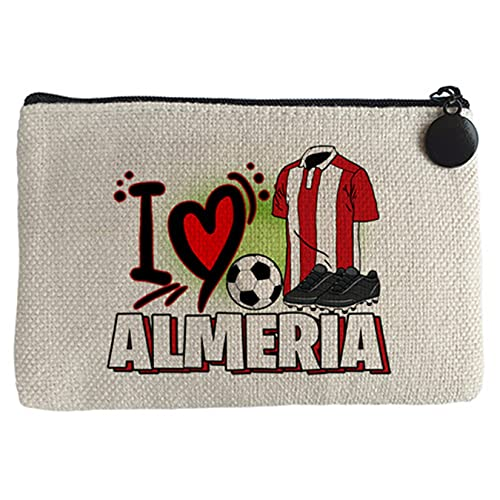 Diver Bebé Monedero para enamorado de su equipo de fútbol de Almería - Beige, 15 x 10 cm