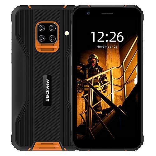 Blackview BV5100 IP69K - Smartphone exterior sin contrato, HD de 5,7 pulgadas + 16MP + 13MP, ROM de 4 GB + 128 GB de RAM, Android 10 Octa-core Dual SIM 5580mAh, NFC/GPS/OTG/Face ID – versión global