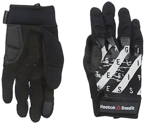 Reebok Men's Crossfit Training Gloves, Black, Small
