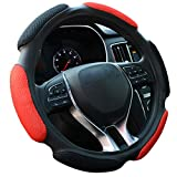 FHQSX Auto Steering Wheel Cover Soft Hand Pad Cushion Slip-on...