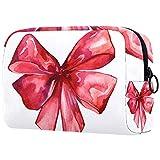 Bolsa de maquillaje de dibujos animados bolsa de cosméticos impresa artículos de tocador bolsas de viaje bolsas de cosméticos para mujeres fondo azul