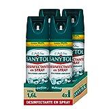 Sanytol - Spray Desinfectante Multisuperficies con poder limpiador, Elimina Bacterias, Hongos y Virus Sin Lejía, Perfume Herbal - Pack de 4 x 400 ML = 1,6L