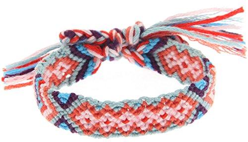 EOZY Bracelet Manuel Tissé Femme Bracelet Réglable Tricoté Fille Bohême Bijou Bracelet Multicolore #10