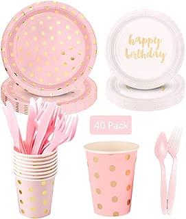 Baby Shower Anniversaire 200/pi/èces Creative diff/érents Motifs Papier pailles de f/ête CTGVH biod/égradable pailles en Papier Papier Mariage Gold//Pink Straws d/écorations f/êtes Color/é