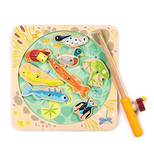Tender Leaf Toy Pond Dipping - Let's Go Fishing Toddler Toys Fishing Game - Develops Fine Motor Skills - 3 +