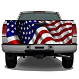 Waving American Flag #4 Truck Tailgate Wrap Vinyl...