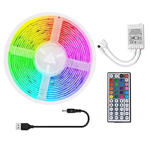 DONGYAO Cadena de luces, tira de luces LED RGB cinta de iluminación con control remoto (D), 3M+USB (tamaño: 20M+USB)