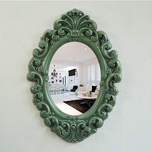 QXHELI Hoogwaardige in de kast spiegel spiegels moderne carving van badkamers, aan de muur opknoping spiegels, dressing ontvangst van spiegels toilet schoonheid decoratie lekvrij wassen Make-up Spiegels Spiegels (