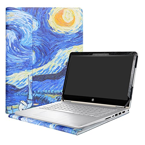 Alapmk Specialmente Progettato PU Custodia Protettiva in Pelle per 14' HP Pavilion x360 14 14-baXXX 14m-baXXX Series Notebook,Starry Night