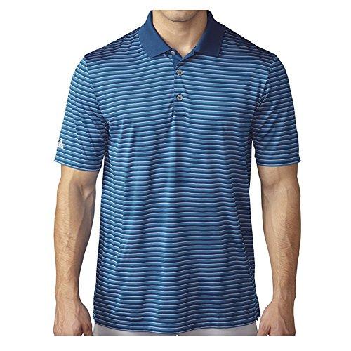 adidas Golf Herren Poloshirt Golf Performance 3-farbig gestreift, Herren, Blau/Weiß, X-Large