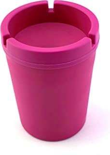 VIP Home Essentials Stub Out Glow in The Dark and Non-Glow Cup-Style Butt Bucket Ashtray (Pink Non-Glow, Jumbo)