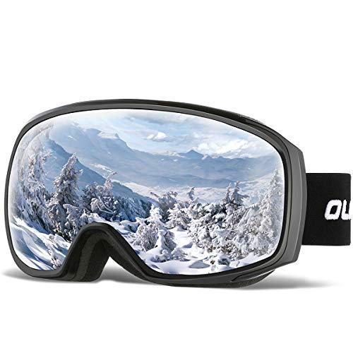 OlarHike Ski Snow Goggles for Men and Women, Anti-Fog Over Glasses Snowboard Goggles