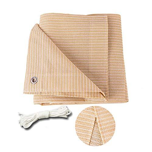 R&F - Toldo de protección solar con ojal, 90 % de bloqueo UV, para patio, plantas, pérgola, cubierta, color beige, 3×3m