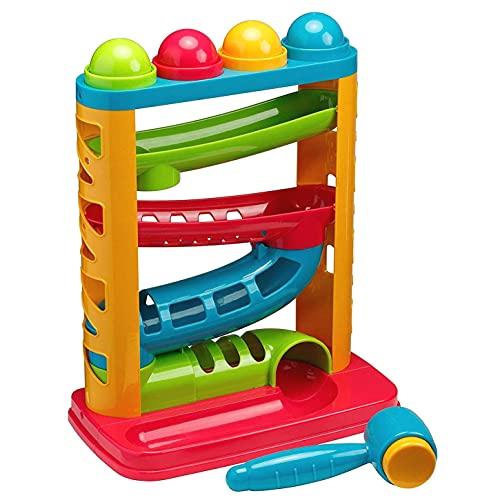Tippi Pound a Ball Racer - Juguete para soltar Bolas para bebés o niños...